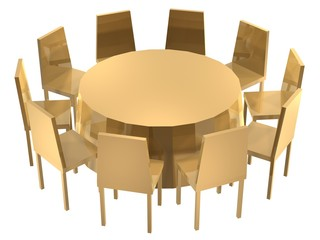 chairs round table