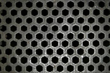 steel grid pattern
