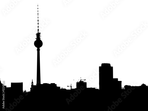 berlin skyline stockfotos und lizenzfreie bilder auf bild 1224156. Black Bedroom Furniture Sets. Home Design Ideas