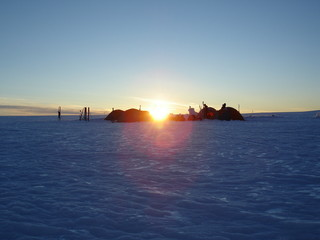 arctic sunrise at camp