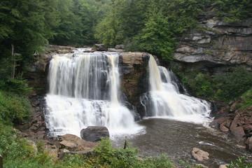 Fototapete - black waterfalls