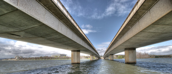Canvas Prints Bridge commonwealth avenue panorama