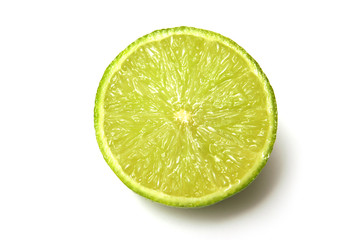 lime on a white studio background