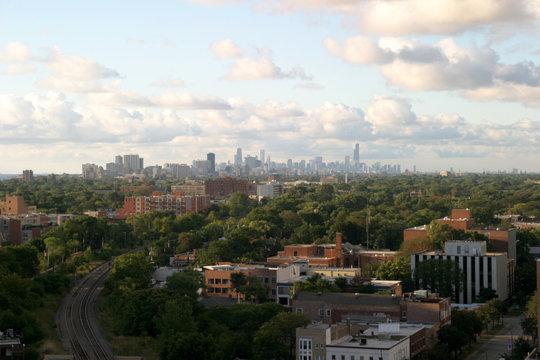 chicago downtown on the horizon
