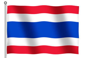 flag of thailand waving