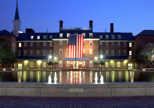 city hall at night, washington, dc / alexandria va