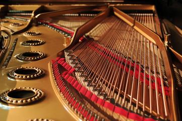 concert grand piano interior