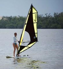 novice windsurfer