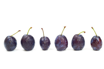 six wet plums