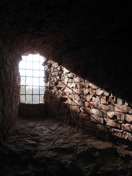 a ray of light from ancient window