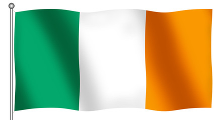 flag of ireland waving
