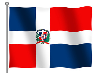 flag of the dominican republic waving