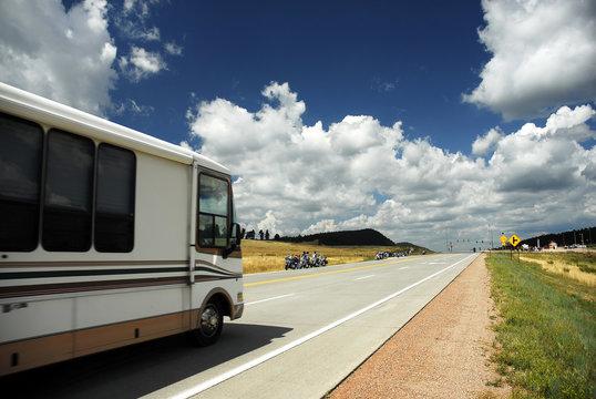 rv on highway