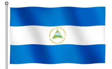 flag of nicaragua waving