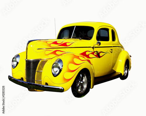 Wall mural flamed deluxe coupe