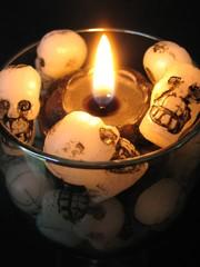 halloween  candle closeup