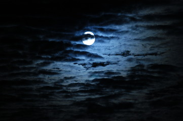 Photo Blinds Full moon moon behind clouds