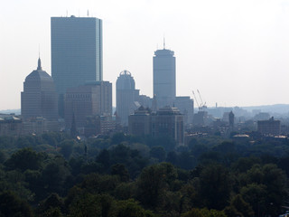 hazy afternoon in boston