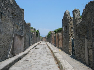roads of pompei