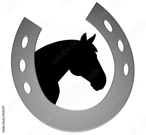 logo pferd / hufeisen\