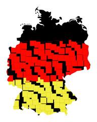 karte von deutschland - freigestellt 02