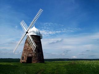 Fond de hotte en verre imprimé Moulins landscape windmill