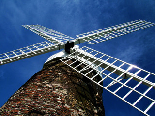Printed kitchen splashbacks Mills windmill from below