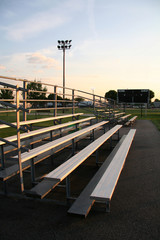 score board next to bleachers