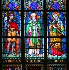 Foto op Aluminium Imagination saints on stained glass