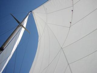 voile et mat de bateau