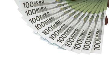 einhundert euro scheine aufgefächert p07