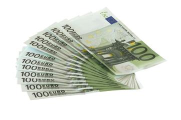 einhundert euro scheine aufgefächert p08