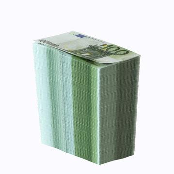 großer stapel hundert euro scheine