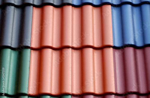 Dachziegel dunkelrot  dachziegel