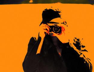 fotografin orange abstrakt poster