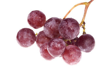 bunch of delicious grapes isolated on white