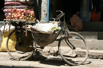 nepal, merchant bicycle