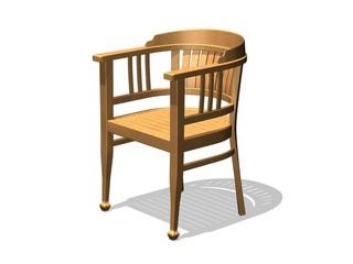 armchair fauteuil en bois