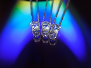 three light-emitting diodes