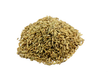 closeup of pile of fennel seeds