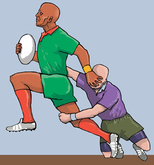 rugby running