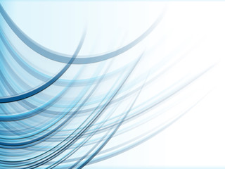 abstract background with blue fluied lines