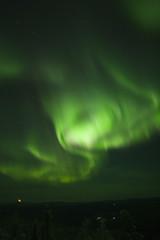 swirling northern lights