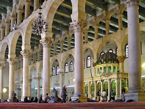 the omayyad mosque - damascus, syria.