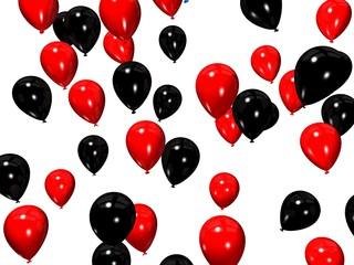 schwarz/rot ballons