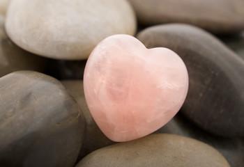 Fototapeta premium serce kwarcowe różowe