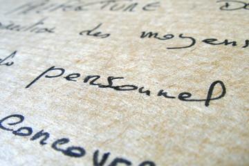 lettre bureau