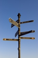 a signpost with choises