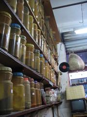 spice stall in market in agadir - morocco