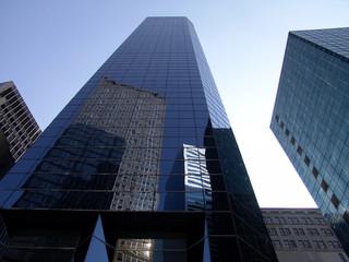 Fotobehang Aan het plafond wolkenkratzer - new york